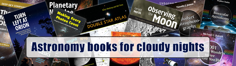 Astronomy books for cloudy nights