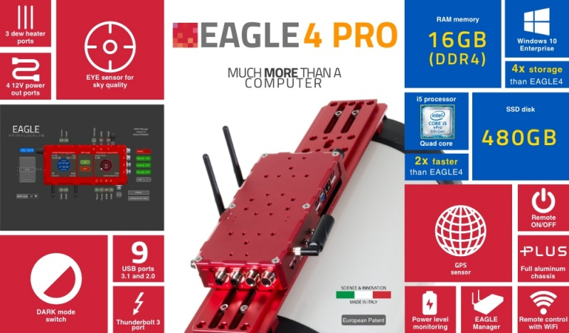 EAGLE4 Pro Advanced Control Unit for Telescopes and Astrophotography