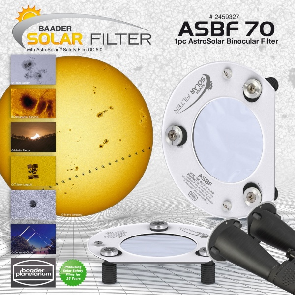 Baader ASBF Solar Filters for Binoculars and Camera-Lenses
