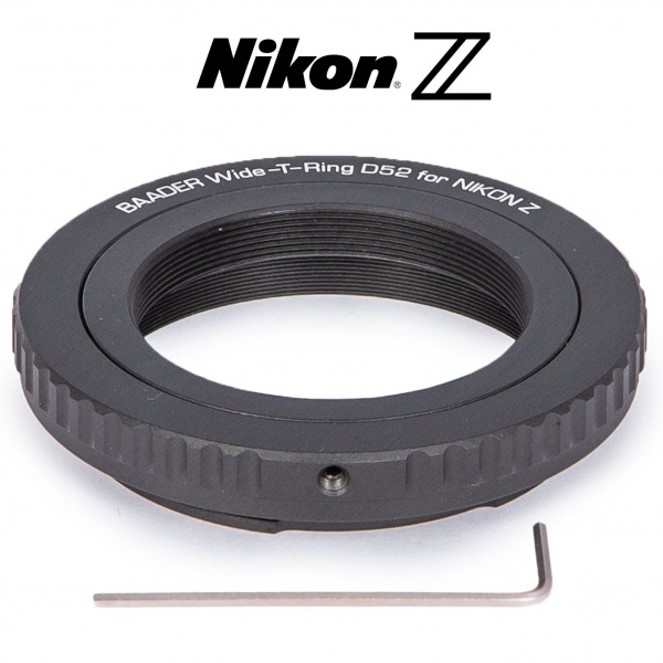 Baader Wide-T-Ring Nikon Z (for Nikon Z Bayonet) with D52i to T-2 & S52