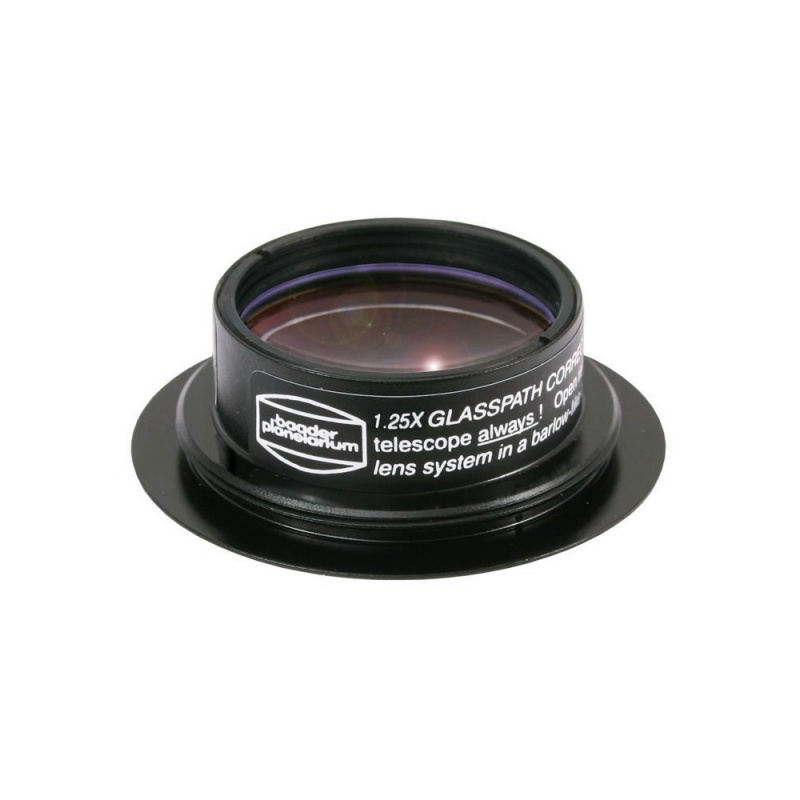 Baader Glasspath Corrector 1.25x with Zeiss Ring Dovetail for MaxBright II and Mark V Binoviewers