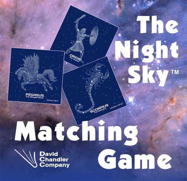 David Chandler Night Sky Matching Card Game
