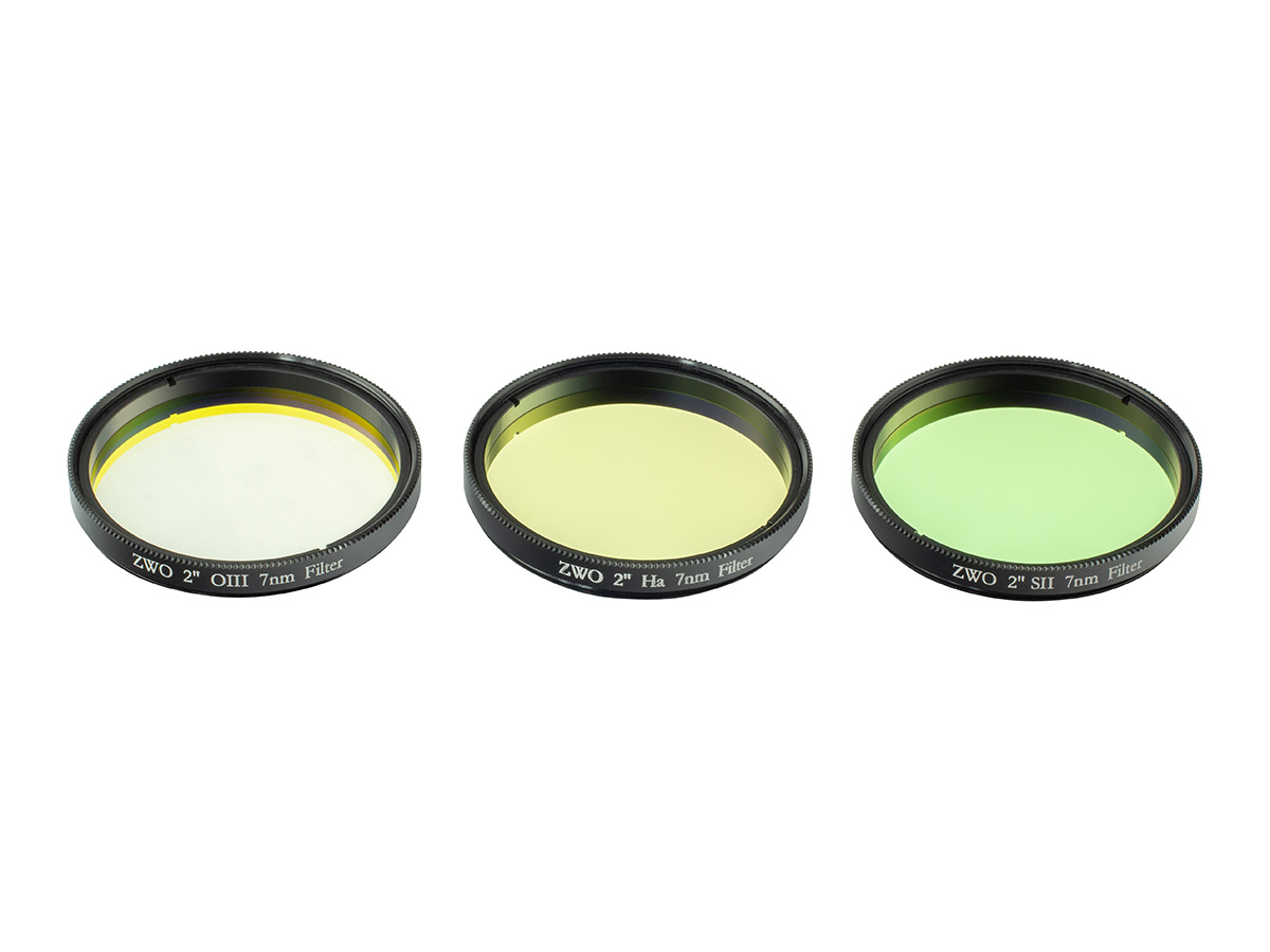 ZWO 2'' Ha SII OIII 7nm Narrowband Filter Set