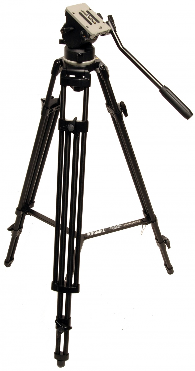 Fotomate VT-990-222R Heavy-Duty Professional 2-Way Tripod