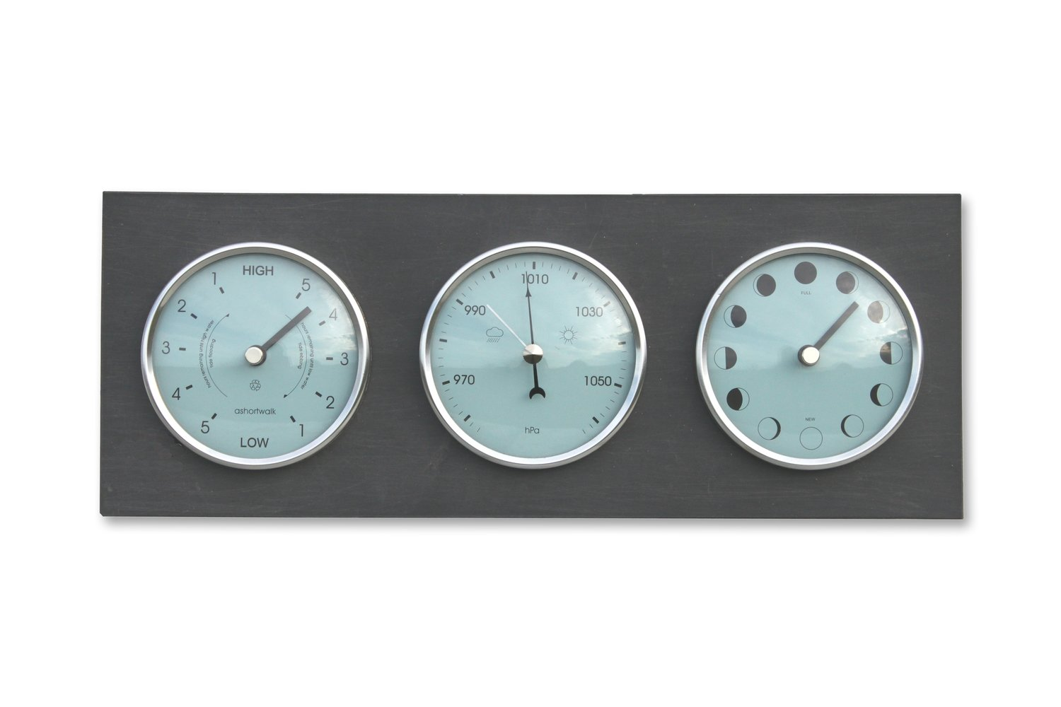 Moon Phase, Tide & Barometer Clock