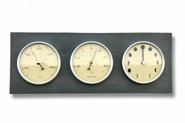 Moon Phase, Temperature & Barometer Clock