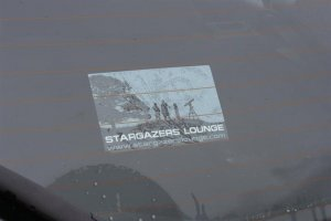 Stargazers Lounge Car Sticker