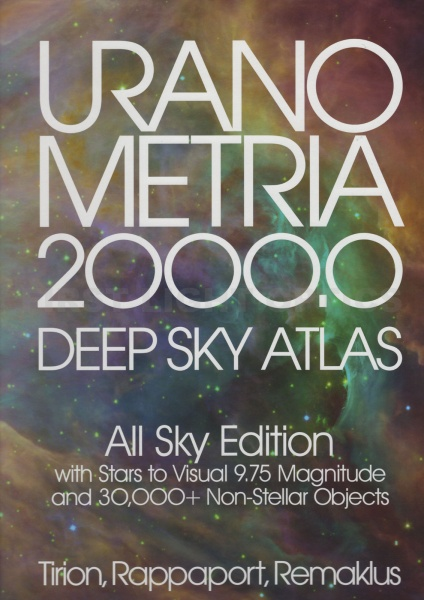 Uranometria 2000.0: Deep Sky Atlas All Sky Edition Book